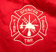SPENCER FIRE & RESCUE embroidered med vtg jacket Holland nylon windbreaker OHIO