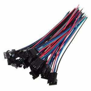 10 Sets Micro 4 Pin JST SM-2.54 22AWG Anschlussstecker mit Drähte Kabel 150MM
