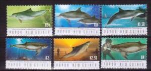 PAPUA NEW GUINEA 2003 dolphins set MNH