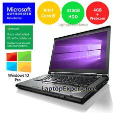 LENOVO LAPTOP WINDOWS 10 PRO T430 DVD i5 2.5GHz 320GB HD WEBCAM WiFi NOTEBOOK PC