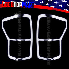 For Toyota TUNDRA 2007 2008 2009 Chrome Tail Light Covers PAIR Lights Rear Back