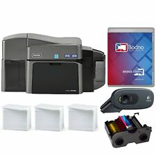 Fargo DTC1250e Dual Sided ID Card Printer & Complete Supplies Package