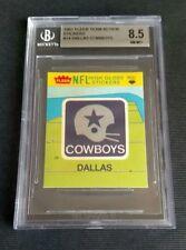 1981 fleer football stickers #14.   Dallas Cowboys 🏈. BGS Graded