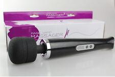 CB Black 10 Speed Magic Wand Full Body Neck Personal Massager Vibrator Sticker