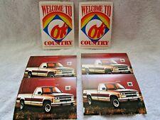 Vintage ORIGINAL OK CHEVROLET GM USED CAR TRUCK Postcard (2) w/1988 Chevy Truck