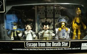 ESCAPE FROM DEATH STAR STAR WARS DONALD D, MINNIE M, PLUTO AND GOOFY NEW DISNEY
