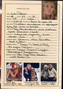 Playboy Playmate JULIE PETERSON Hand Signed ORIGINAL CENTERFOLD