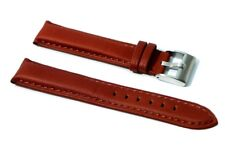 Cinturino orologio vera pelle imbottito 5mm marrone 22mm tipo breitling panerai