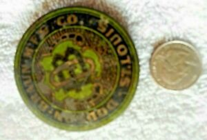 "Tin jelly? jar lid ""DODSON BRAUN MF'G CO. ST. LOUIS"" Circa 1890's-1910"