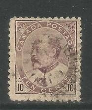 Canada 1903-08 King Edward VII 10c brown lilac (93) used