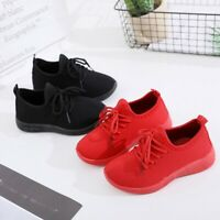 Children Infant Baby Girls Boys Solid Sport Running Sneakers Soft Casual Shoes
