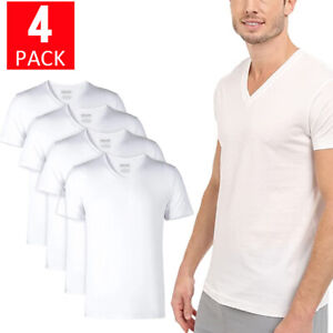4-Pack Kirkland Men's V-Neck Tee Pima Cotton Custom Fit Cotton T-Shirt