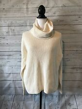 Women's Madewell Convertible Turtleneck Sweater Cream Size L NWT
