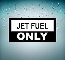 Sticker adesivi aeroplano macbook aeroporto moto auto pilota jet fuel only