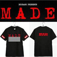KPOP Bigbang Tshirt MADE Concert T-shirt Cotton Tee VIP TOP