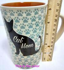Cat Mom Cute Oversized Cat Lover Paw Print & Cat Image Mug by Spectrum