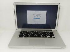"""Apple MacBook Pro 8,2 MD322LL/A i7-2760QM 2.40GHz 8GB RAM 15.4"""" 1TB HDD Used"""