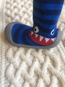 **Blade & Rose Ziggy Monster Toddler Slipper Sock Shoes** - Size 5 BN