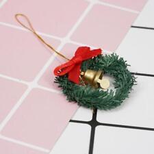 1:12 Dollhouse Miniature Mini Christmas Decoration Wreath With Bell