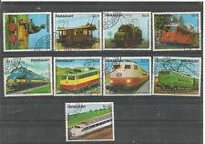 Paraguay  Eisenbahn  gestempelt