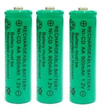 3 x AA 900mAh Ni-Cd Ni-Cad 1.2V Rechargeable Batteries