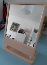 Vintage 1970s Roedens Plastic Wall Dressing Table Mirror Cream BEIGE