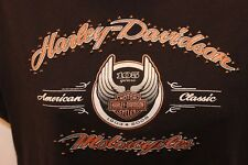 Harley-Davidson 105th ANNIVERSARY Women's Black Bling T-Shirt  XL S/S EUC