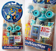 RARE 2004 MEGAMAN NT WARRIOR WINDBLAST MAN + CP2 BATTLECHIP MATTEL NEW MOSC !