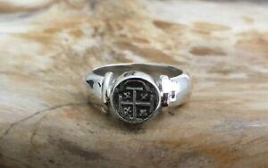 ATOCHA Coin Ring Sterling Silver Sunken Treasure Shipwreck Jewelry Ladies Mens