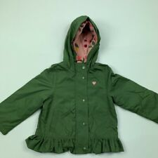 Carters Baby Girls Hooded Jacket Green Long Sleeve Lined Ruffle Hem 24 Mos New