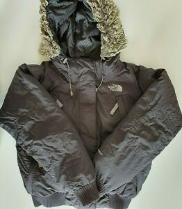 Women's The North Face Padded Down Jacket Bomber Coat Parka Size M
