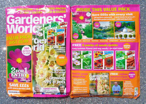 BBC GARDENERS WORLD MAGAZINE MAY 2021 / 2 FOR 1 ENTRY & 6 x PACKS OF SEEDS  NEW/