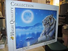 """CLEMENTONI~Italy 500 Piece Puzzle """"Fantasy""""  Tiger Mother & Cub Unused"""