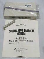 Vintage Atari 850 Anchor Automation MARK II SIGNALMAN Modem - Made in USA
