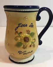 "Grassland Road Amscan Avignon Coffee Mug Joie De Vivre Multi-Color Tea Cup 5"" H"