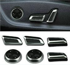 6pc Chrome Seat Adjustment Switch For AUDI A5 Q5 A4 B8 A3 A6 Q3 VW CC Tiguan