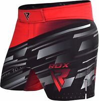RDX MMA Shorts Kick Gym Boxing Grappling Training Thai Cage Wear Muay Mens Red