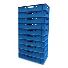 10 x Eurofleischerkiste Vorratsbox E1-Kiste Behälter Gemüsekiste stabelbar blau.