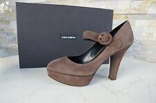 Dolce & Gabbana GR 39 plataforma pumps heels zapatos chocolate marrón nuevo PVP 445 €
