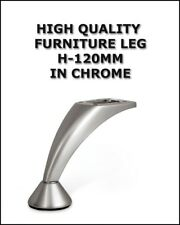 STEEL CHROME LEG HEIGHT 120MM FOR FURNITURE SOFA CABINET BED  NM -001