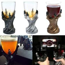 3D Dragon Claw Goblet Glass Cup Drinkware for Whiskey Wine and Juice Gold