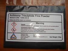 Solfuro di Antimonio Tri - 100 GRAMMI super-Fine Mesh (400)