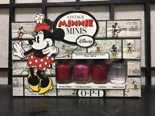 Opi Vintage Minnie Mini Nail Lacquers Polish 4 pc Set 1/8oz