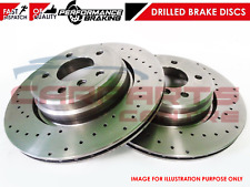 FOR VARIOUS AUDI SEAT SKODA VW FRONT PERFORMANCE DRILLED BRAKE DISC DISCS 288mm