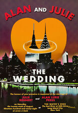 Original Vintage Poster Razzia NYC Manhattan Wedding Love Empire State Chrysler
