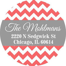 """Personalized Address Labels 100 stickers 2"""" diameter"""