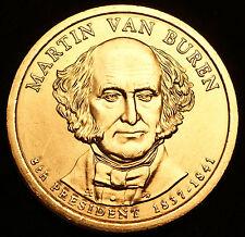 2008 P Martin Van Buren Presidential Dollar ~ Pos A ~ From U.S. Mint Roll