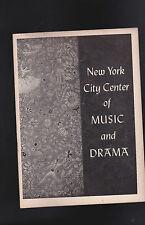 Jeux D'Enfants New York Ciudad Ballet Theatre Program Diciembre 1955