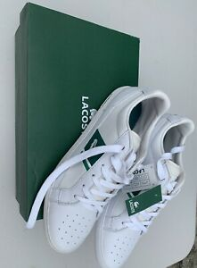 Men's Shoes Lacoste EUROPA Lace Up Sneakers WHITE / GREEN