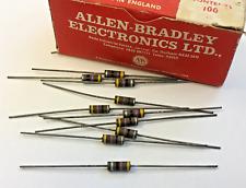 Allen Bradley Morganite Type S isolé Résistance 0.5 W 47Ω - 10 pièces